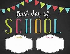 First Day Of Preschool Template Free Customizable First Day Of School Printable