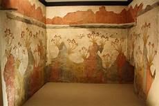 lilies fresco akrotiri illustration ancient history