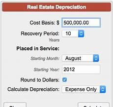 Depreciation Calculator Property Depreciation Calculator Real Estate