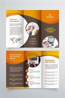 Template For Brochure Free Creative Trifold Brochure Template 2 Color Styles
