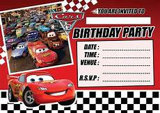 Cars Birthday Invites Cars 3 Lightening Mcqueen Childrens Birthday Party
