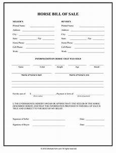 Horse Bill Of Sale Horse Template Printable Horse Bill Of Sale Form Bill