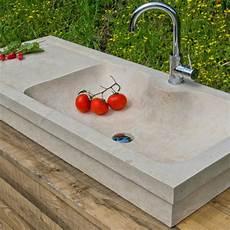 lavello travertino lavabo da cucina rettangolare in marmo travertino massello