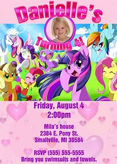 Birthday Invitaiton My Little Pony Birthday Invitations Drevio