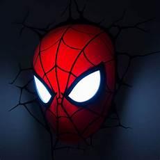 Spidey Light Spiderman Face 3d Deco Light Fun Memorabilia Wall