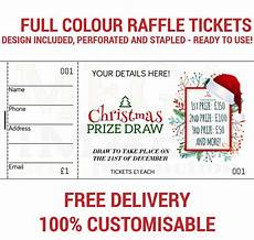 Draw Ticket Template Printed Personalised Raffle Prize Draw Tickets Ebay