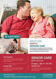 Home Care Flyer Elderly Care Flyer Template By Afjamaal Graphicriver