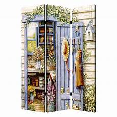 country living 6 ft multi color 3 panel room divider sg