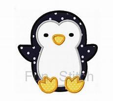 penguin applique penguin applique machine embroidery design by funstitch