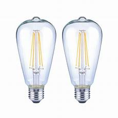Vintage Light Bulbs Cool White Ecosmart 40 Watt Equivalent St19 Dimmable Clear Glass
