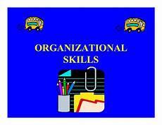 List Of Organisational Skills Organizational Skills Powerpoint