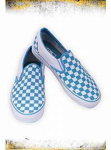Light Blue And Checkered Vans Vans Light Blue And White Checkered Slip Ons Topic