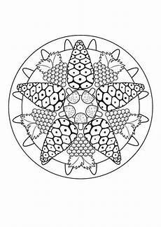 Herbst Malvorlagen Zum Ausdrucken Zum Ausdrucken Kostenlose Malvorlage Mandalas Herbst Mandala Zum