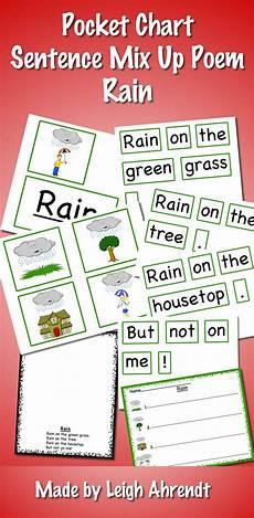 Pocket Chart Poems For Kindergarten Pocket Chart Sentence Mix Up Poem April Rain First