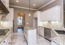 White Kitchen Cabinets Light Floor Spacious Kitchen With Custom White Cabinets Light