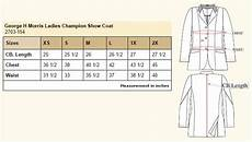 George Size Chart George Morris Champion Show Coat The Connected Rider