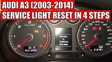 Audi A3 Oil Light Reset Audi A3 2003 2014 Service Light Reset In 4 Easy Steps