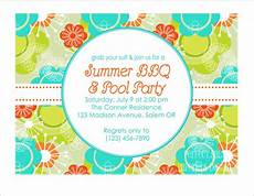 Summer Party Invites Printable Summer Party Invitation Pool Party By