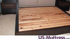 how many slats are needed for mattress only beds