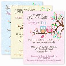 Customizable Invitation Owl Baby Shower Party Invitations Custom Personalized