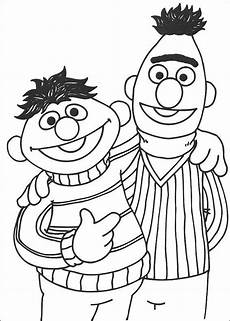 ernie and bert sesame coloring pages elmo