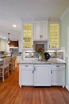 small kitchen bar with glass door cabinets hgtv