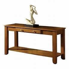steve silver nelson console table in oak ebay