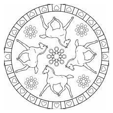 Malvorlagen Mandalas Pferde Malvorlagen Mandala Pferde With Images Decorative