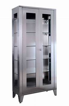 stainless steel cabinet glass windows
