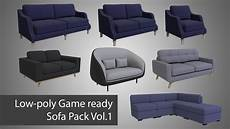 Sofa Battery Pack 3d Image by Sofa Pack Vol 1 3d Model Cgtrader