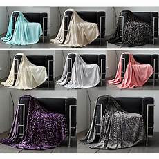 luxury fleece blanket soft metallic for sofa bed