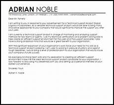 Technical Offer Sample Technical Support Analyst Cover Letter Sample Cover