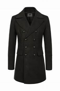 pea coats for khaki green breasted wool blend pea coats mens