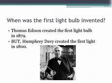 When Was Light Bulb Made Light Bulbs