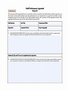 Staff Review Template Free 7 Monthly Review Forms In Pdf Ms Word