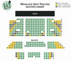 Highland Arts Theatre Seating Chart Seating Chart Highland Arts Theatre
