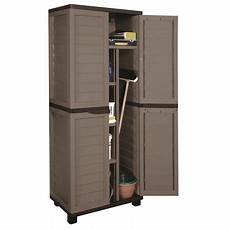 cabinet with vertical partition 4 shelves mocha brown