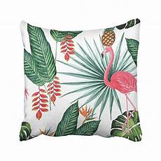 buy tropical jungle nature flamingo with palm leaves bird