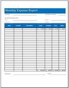 Excel Monthly Expense Template Monthly Expense Report Worksheet Template Microsoft Word