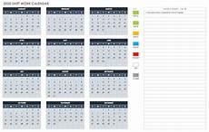 Calendar Excel Template 2020 Free Excel Calendar Templates