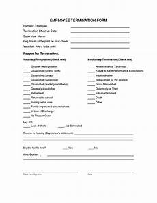 Employment Termination Letter Template Free Termination Form Template Employee Termination Letter For