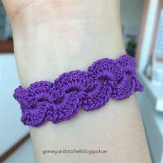 all about crochet free pattern lace scallop crochet bracelet
