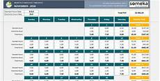 Excel Spreadsheet Timesheet Template Monthly Employee Timesheet Free And Printable Excel Template