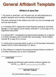 Affidavit Samples How To Write An Affidavit Step By Step With Free Templates