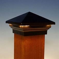Cap Lights For Deck Venus Pyramid Led Post Cap By Aurora Deck Lighting