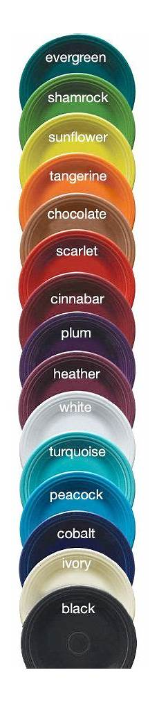 Fiesta Dishes Color Chart 64 Best Fiestaware Display Ideas Images On Pinterest