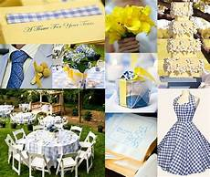 blue and yellow wedding cocktail party