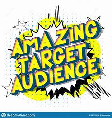Another Word For Target Audience Amazing Target Audience Comic Book Style Word Stock