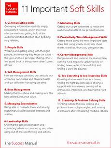 List Of Career Skills The 11 Kinds Of Soft Skills You Need To Succeed In Career