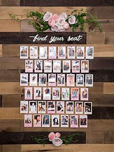 Cricut Wedding Seating Chart This Diy Photo Seating Chart Display Is The Absolute